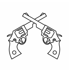 Revolvers icon outline style vector