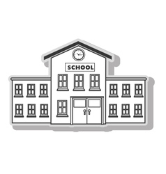 School building architecture vector