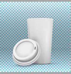 Coffee cup mockup vector