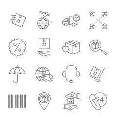 Delivery and logistics icons set logistics vector