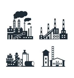 Digital black factory pollution vector