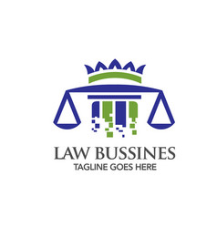 digital technology law logo vector image