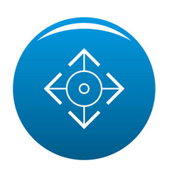 Easy target icon blue vector