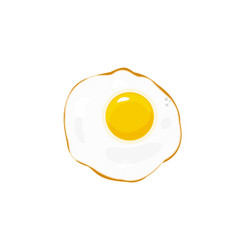 Egg fried icon isolated on white flat vector