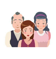 elder parents and daughter vector image