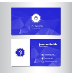 Elegant flowers shop business card template vector