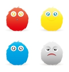Expression faces vector image
