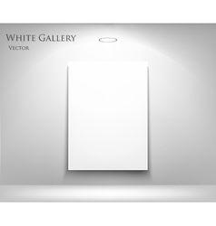 gallery with empty frame vector image vector image