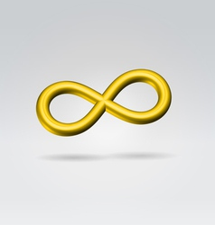 golden metal infinity sign vector image vector image