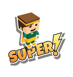 Great superhero mom vector