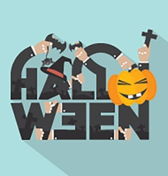 Halloween Typography Design vector image