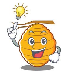Have an idea bee hive character cartoon vector