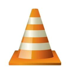Isoalted cone of under construction design vector