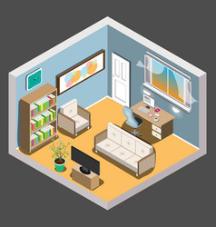Isometric room vector