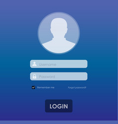 login template background vector image