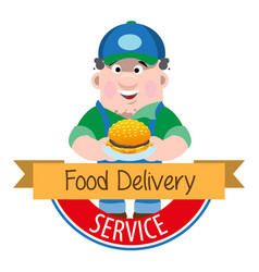 Logo meal delivery vector