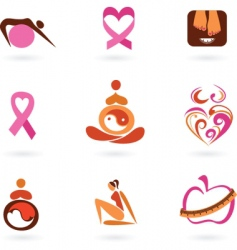 motherhood icons vector image vector image