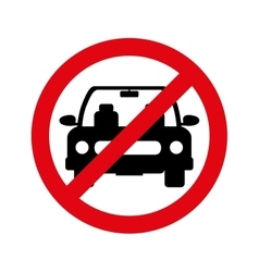 Parking prohibited sign isolated icon vector