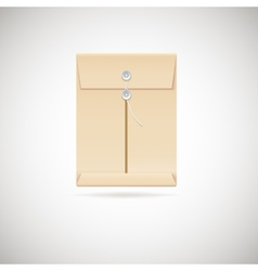 Realistic manila envelope isolated on white vector