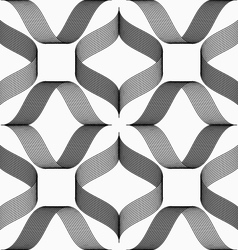 Ribbons forming rhombus pattern vector image vector image