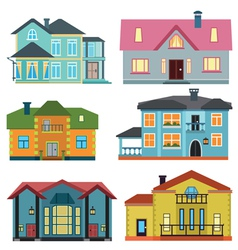 Set of cottage for infographics vector image vector image