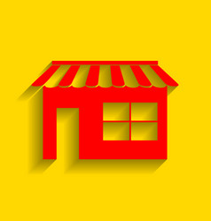 store sign red icon with vector image vector image