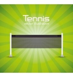 Tennis net green bright background vector
