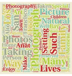 The art of organic photography text background vector