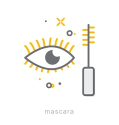 Thin line icons Mascara vector image