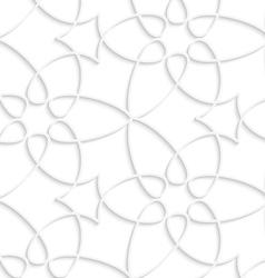 White floristic swirl seamless pattern vector