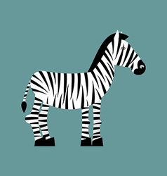 Zebra Wild animals of Africa Striped zebra Zebra vector image vector image