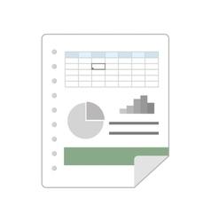 Spreadsheet file document vector