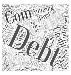 Card com credit debt en language site word cloud vector