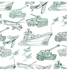 Military transport pattern vector