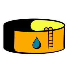 oil tank storage icon icon cartoon vector image