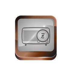 Antique radio stereo vector