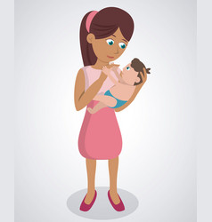mom with her son baby lovely vector image