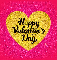 Happy valentines day glitter design vector