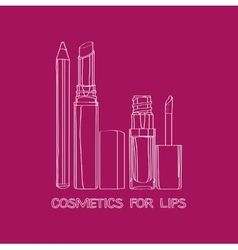 Cosmetics for lips vector