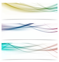 Speed abstract swoosh wave contemporary header set vector