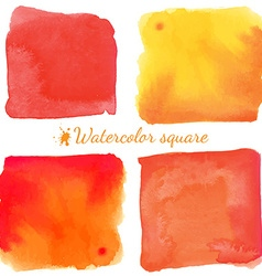 Beautiful watercolor square elements vector