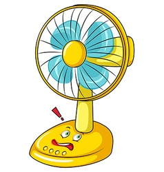 Electronic fan with face vector