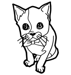 Cartoon cat coloring page vector