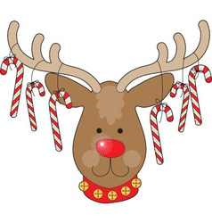 reindeer ornaments vector image