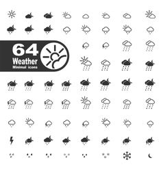 Weather simply icons vector