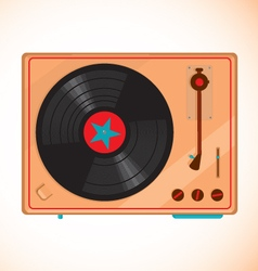 Vinyl records player vector