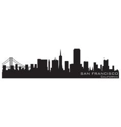 San francisco california skyline detailed silhouet vector