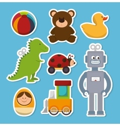 Cute toys design vector