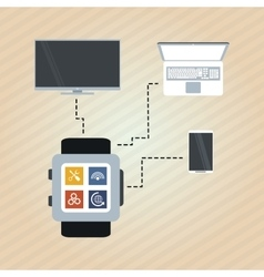 Set of technology icons design vector