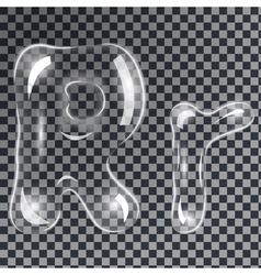 Bubbles letters r vector
